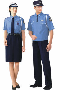 Custom Red Color Short Sleeve Security Guard Uniform Shirt pictures & photos