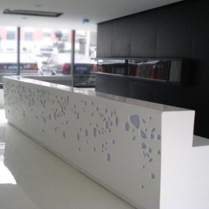 Artificial Stone Reception Top, Solid Surface Hotel Reception pictures & photos