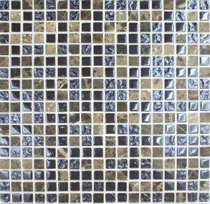 Floor/Wall Tile Mosaic, Crystal Glass Mosaic (VM15040))