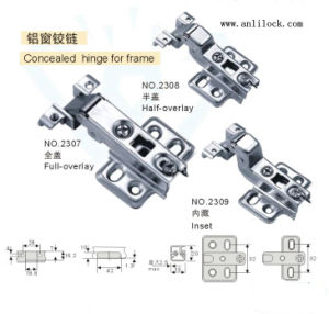 Aluminium Window Hinge, Door Hinge, Desk Hinge (AL-2307, 2308, 2309) pictures & photos