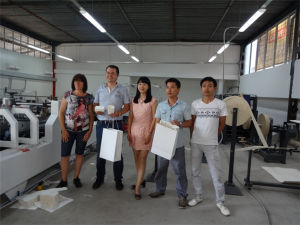 Semi Automatic Paper Carrier Bag Making Machine  with Wire Handle pictures & photos