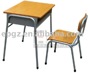 High Quality Classroom Forniture Single Desk & Chair pictures & photos