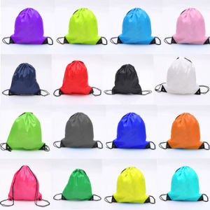 Factory Wholesale Promotion Sports Bag Drawstring Backpack pictures & photos