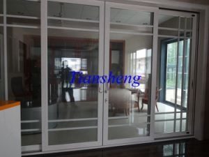 120series Heavy Sliding Doors Office Partition Doors Aluminum Sliding Doors with Built-in Blinds pictures & photos