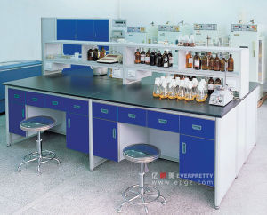 School Center Lab Table for Fout Students Lab Bench Equipment for Experiment Study Chemical Lab Desk Laboratory Furniture pictures & photos