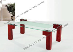 Tempered Glass Painted MDF Legs Coffee Table (SC-5130)