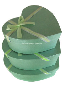 Nested Heart Shape Ribbon Gift Boxes Set (TW-NB0011)