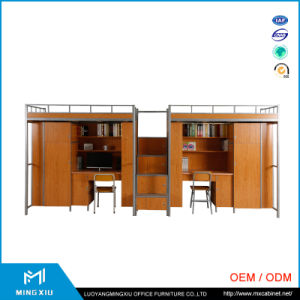 Luoyang Mingxiu Factory Price Steel Loft Bunk Bed / Bunk Bed with Staircase pictures & photos