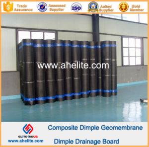 HDPE Dimple Membrane Waterproof Drainage Board 0.6mm 10mm 150g pictures & photos