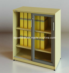 Glass Sliding Door File Cabinet (SV-SLG1046) pictures & photos