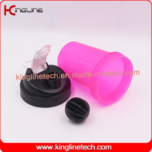 500ml BPA Free Plastic Shaker Bottle With connecting rod (KL-7032) pictures & photos