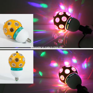 Full Color E27 6W Crystal Auto Rotating LED Stage Light (MQ0002)