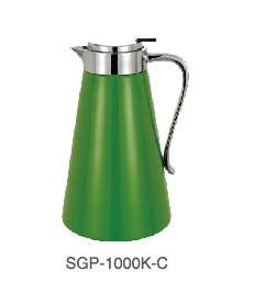 Painted Glass Liner Stainless Steel Shell Coffee Pot Sgp-1000k-C pictures & photos