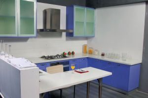 Modern Cheap Blue MDF Kitchen Cabinets pictures & photos