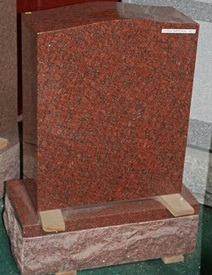 Red Granite Monument Tombstone