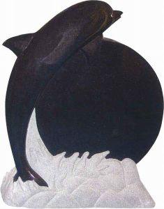 Austrilian Black Granite Pet Memorial Statue (BF-0620-14)