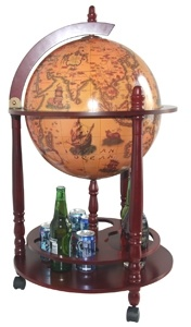 Wine Chest Terrestrial Globe (JY-01)