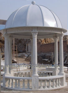 Stone Marble Garden Gazebo Tent for Outdoor Garden Furniture (GR064) pictures & photos
