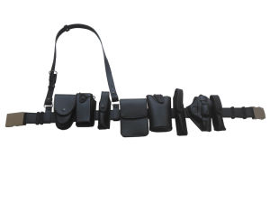 Police Securiy Duty Belt Set with Multi Functional Pouches pictures & photos