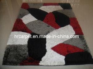 New Design Handmade 3D Polyester Shaggy Rug Carpet (HX-046)