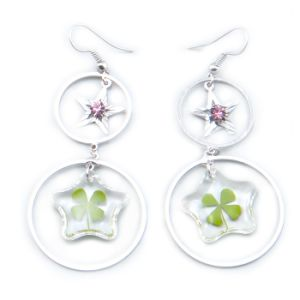 Lucky Four Leaf Clover Earrings Jewelry