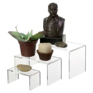 Clear Acrylic Riser Set of 3 for Green Plant Adornment pictures & photos