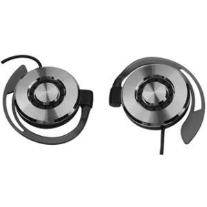 Stylist Silvery Clip-On Headphone