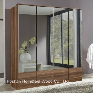 New 4 Doors Wooden Mirrored Wardrobe Dresser (WB14) pictures & photos