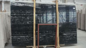 Silver White Dragon Black Marble Slabs pictures & photos