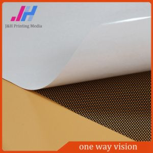 China Supplier Removable Clear Adhesive PVC One Way Vision pictures & photos
