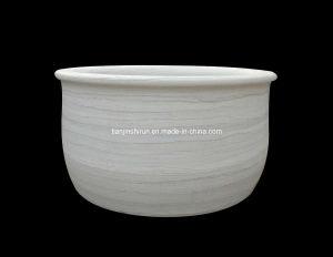 White Marble Round Bathtub (BTB004) pictures & photos