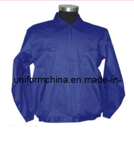 Simple Style Blue Work Jacket, OEM Cheap Workwear for Industrial (EM203)