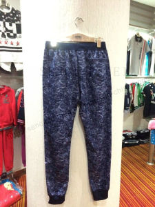 Denim Washing Knitting Joggers Pants with String in Man Sports Wear Fw-8721 pictures & photos