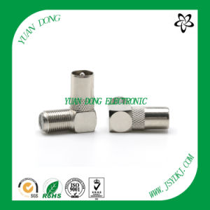 CATV Connector F Female to 90 Degree Rigtht Angle 9.5TV Male RF Connector pictures & photos
