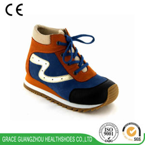 Grace Ortho Shoes Children Depth Orthopedic Leather Shoes pictures & photos