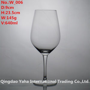 640ml Clear Colored Wine Glass pictures & photos