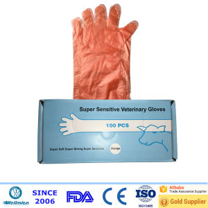 Long Sleeve Plastic Slaughtering Gloves pictures & photos