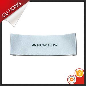 Brand Name 100% Polyester Fabric Woven Label for Clothing