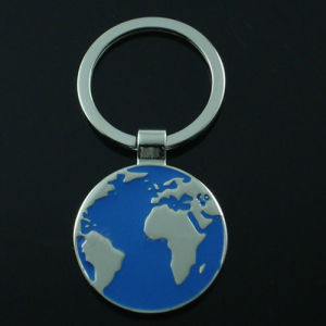 Promotion Tour Logo Premium Metal Europe Map Key Chain (F1253) pictures & photos