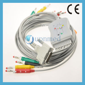Edan 10 Lead EKG Cable with Leadwires, Banana Pin pictures & photos