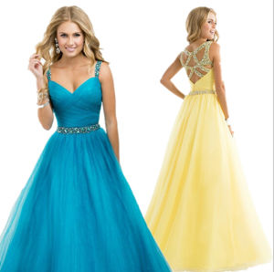 Tulle Prom Party Gowns A-Line Beading Homecoming Cocktail Evening Dresses Z9052` pictures & photos