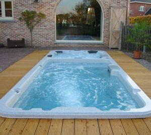New Dual Zone 6 Person Villa Fiberglass Hot Swim SPA Tub pictures & photos