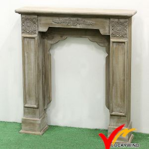 Antique French Country Farmhouse Decorative Freestanding Wooden Fireplace Mantel pictures & photos