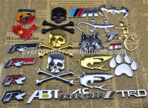 Customized Emblem 3m Car Badge for Sale Adhesive Badge Shiny Chrome Emblems Embossed Metal pictures & photos