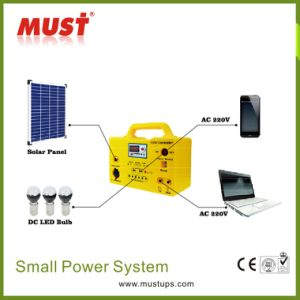 30W Portable Solar Power System Kit for Home Lighting pictures & photos