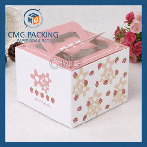 PVC Window Butterfly Cardboard Carried Cake Box (CMG-cake box-006) pictures & photos