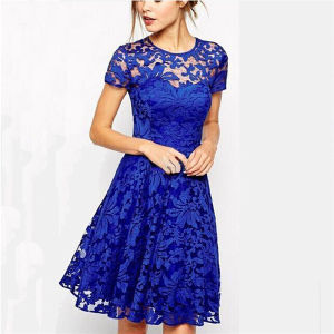 Women Lace Summer Sexy Mini Dress Casual Cocktail Party Dress pictures & photos
