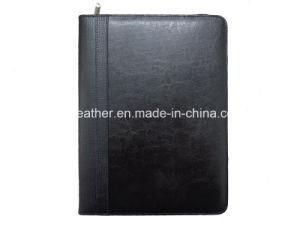 Personal Senior Zip Soft Leather Portfolios for Men pictures & photos