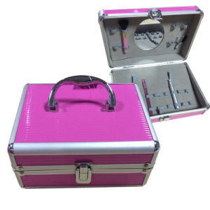 Aluminium Cosmetic Case with Brush Sleeves for Makeup pictures & photos
