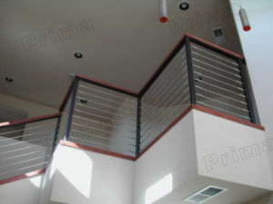 Customized Wrought Iron Cable Railing / Stainless Steel Wire Railing Indoor pictures & photos